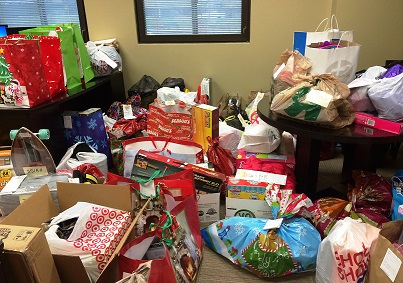 Gifts donated to The Salvation Army by NES