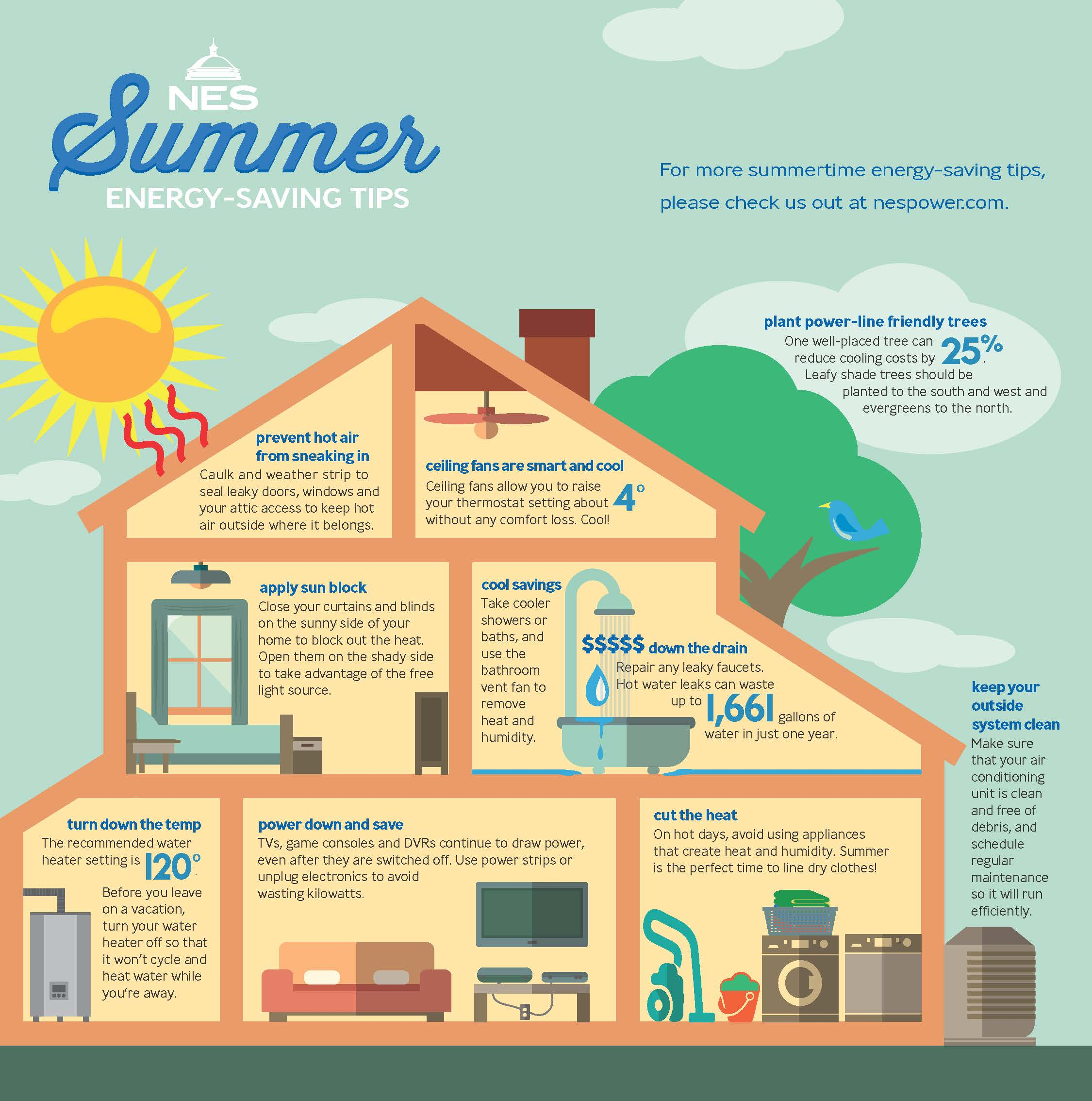 Energy Saving Tips For Summer nes shows cool ways to get summertime savings