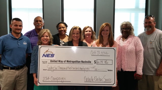 NES United Way Check Presentation